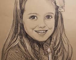 pencil sketch etsy