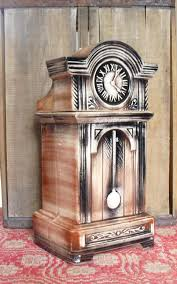 vintage mccoy pottery grandfather clock cookie jar marked usa