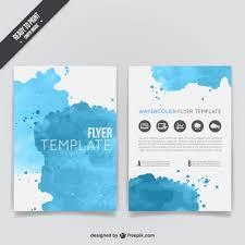 free illustrator brochure templates watercolor flyer template vector free