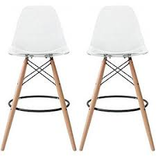 Eames Bistro Table Shop For 2xhome Set Of Two 2 Clear Transparent Eames Chair