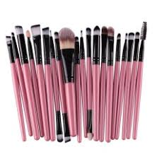 hengsong 20 pcs set make up brush set makeup brush set tools makeup toiletry kit pink black