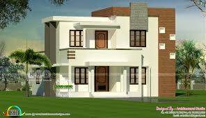 4 bedroom flat roof modern house 1300 sq ft kerala home design