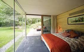 glass wall bedroom rural retreat in bantam connecticut loversiq