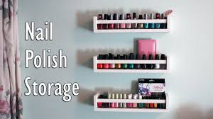 nail polish storage from ikea spice racks youtube
