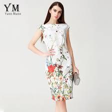 yuoomuoo 2017 summer dress women knee length elegant office dress
