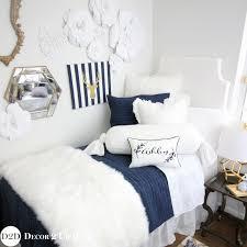 J Crew Bedding Now I Could Live Here Navy U0026 White Fur Designer Dorm Bedding Set