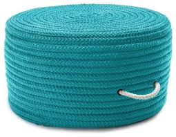 braided simply home solid pouf round turquoise pouf ottoman