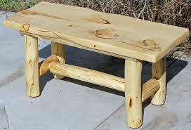 Rustic Log Benches - rustic wood table and benches house design rustic wood end