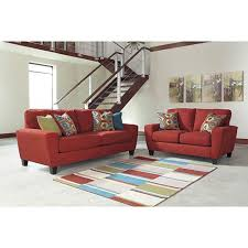 Rent Living Room Furniture Signature Design By Sagen Sofa And Loveseat