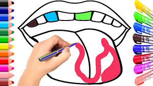 lip mouth and teeth coloring page youtube
