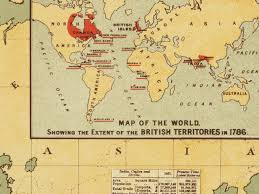 British India Map by World Map 1886 British Empire Imperial Federation Walter Crane