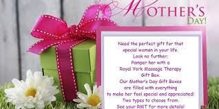 special mothers day gifts s day gift box promotion royal york therapy