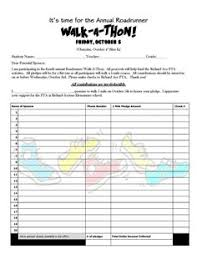 Pledge Sheets For Fundraising Template by Walkathon Pledge Form Template Invitation Templates Designsearch