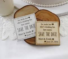 Rustic Save The Date Save The Date Magnets U2013 2 U0026 A Basket