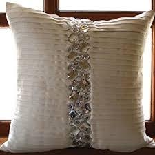 Amazon Luxury White Decorative Pillows Cover Pintucks