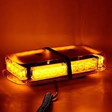 magnetic base strobe light amazon com nex 24 leds strobe amber emergency hazard warning mini
