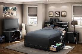 King Bedroom Set With Storage Headboard Bookcase Headboard Twin South Shore Vito Chocolate 39 Inch Twin