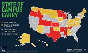 Map Of Red And Blue States by Campus Carry The Movement To Allow Guns On College Grounds Explained