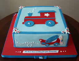 train plane and car baby shower 10