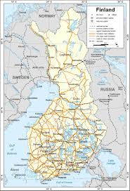 Political Map Of Europe by Maps Of Finland Detailed Map Of Finland In English Travel Map