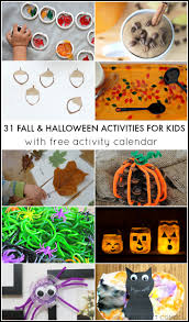 31 fall u0026 halloween activities for kids free october activity