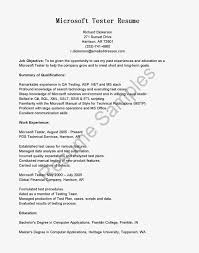 Sample Resume Objectives For Production Operator by Example Resume It Software Engineer Resume Sample Qa Analyst