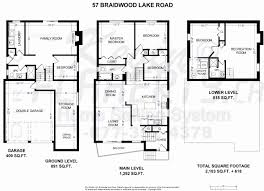 backsplit floor plans front to back split house best of front back split level house
