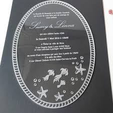 Order Wedding Invitations Sample Order For 5 7inch Laser Engraving Letters Oval Shape Clear