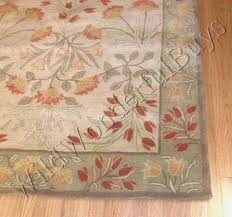 Pottery Barn Adeline Rug Pottery Barn Adeline Rug Multi Green 3x5 Floral Leaves Tufted Wool