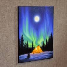 how to paint northern lights northern lights wall decor art print a beautiful life