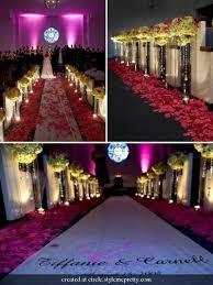 Purple Aisle Runner Pomander Rose Balls Or Lantern For Wedding Ceremony Aisle Decor