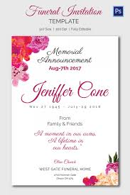 funeral invitation template free funeral invitation sle funeral invitation template format