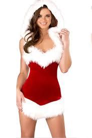 santa dress vintage christmas hooded fur dress santa costume pink