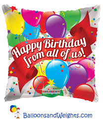 foil balloons 18 inch happy birthday from all of us foil balloon balloons and