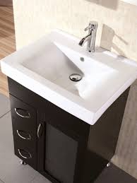 Porcelain Bathroom Vanity 24 Milan Single Bath Vanity Bathgems