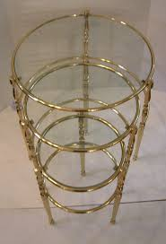 gold nesting coffee table coffee table round wood nesting tables gold and glass nesting