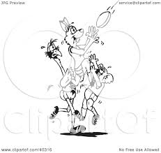 clipart illustration of a black and white outline coloring page of