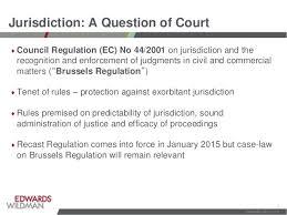 Council Regulation Ec No 44 2001 Brussels Jurisdiction And Intermediary Liability