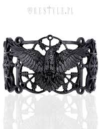 cuff bracelet black images Raven bracelet quot pagan bangle black gothic crow cuff runes jpg