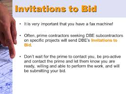 bid it bidding as a dbe subcontractor on utah department of