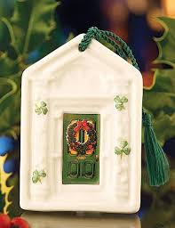 belleek dublin door ornament green ornaments