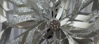 large handmade silver snowflake ornament stin up