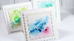water color cards easy watercolor s day cards color wednesday 59