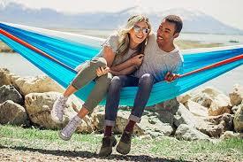 amazon com bear double parachute camping hammock blue