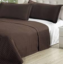 amazon com modern solid brown lightweight bedding quit coverlet