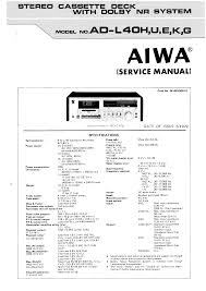 aiwa ad l40 service manual immediate download