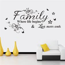 Aliexpresscom  Buy Love Family Quotes Wall Stickers Decorations - Family room quotes