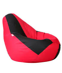 xl bean bag cover in black u0026 red without beans buy xl bean bag
