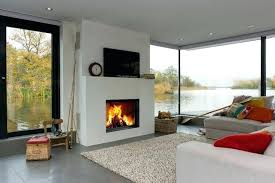 Living Rooms With Wood Burning Stoves Contemporary Inset Wood Burning Stoves On Display In Our Redruth