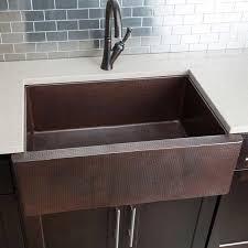 HAHN Copper Series Single XL Farmhouse Kitchen Sink - Copper farmhouse kitchen sink